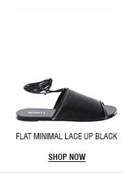 FLAT MINIMAL LACE UP BLACK